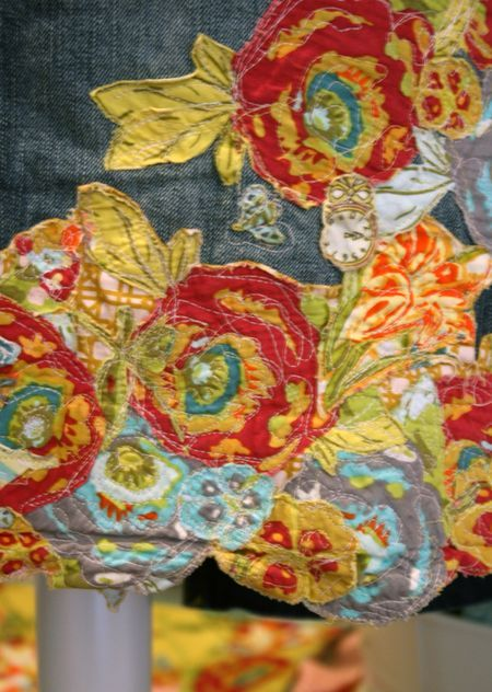 14 Days Of Lillybelle Day 5 Fabric Collage Embellished