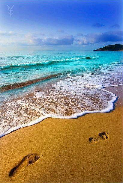 Footsteps in the sand...