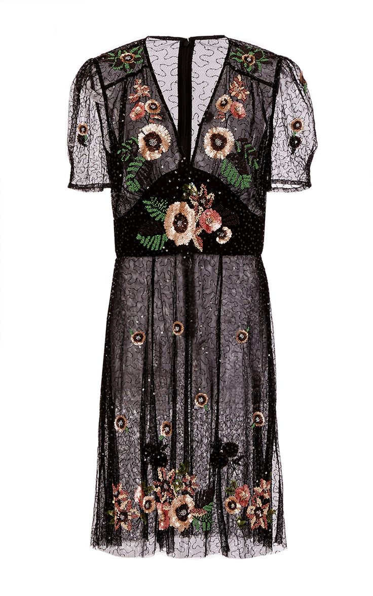 Border Bouquet Embroidery Dress by ANNA SUI for Preorder on Moda Operandi
