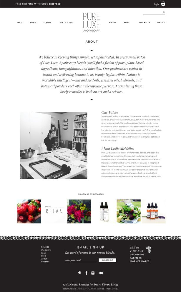 Website Redesign Ecommerce Case Study For Natural Beauty Brand Pure Luxe Apothecary Web Design Examples Website Design Inspiration Web Design Inspiration
