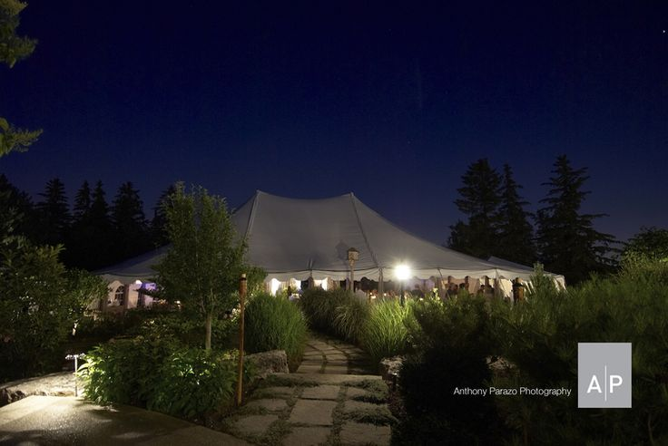 A tent in your backyard is always a great way to host your wedding guests.