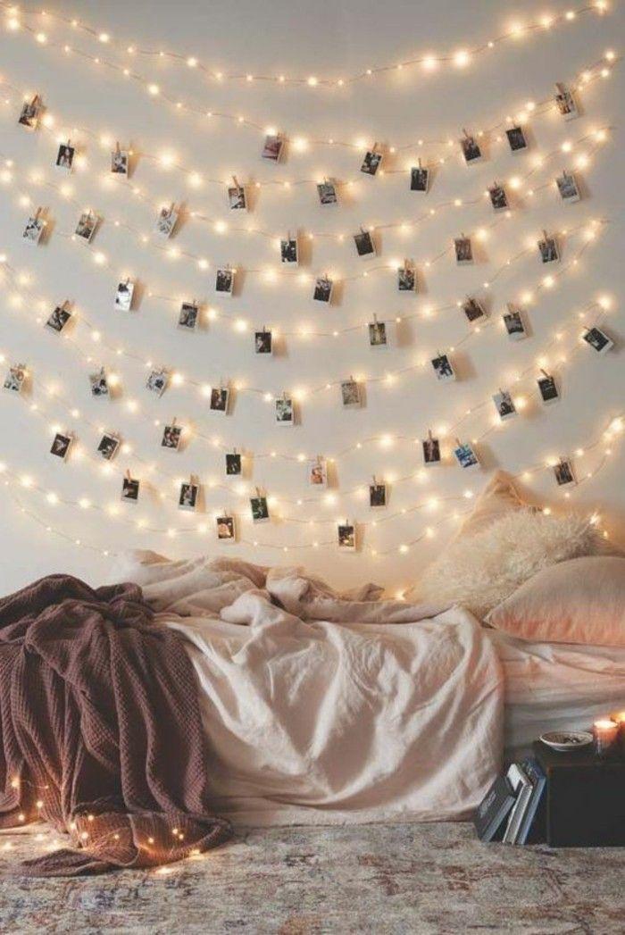 diy deko jugendzimmer mädchenzimmer dekorieren wanddeko dekogirlande leuchten
