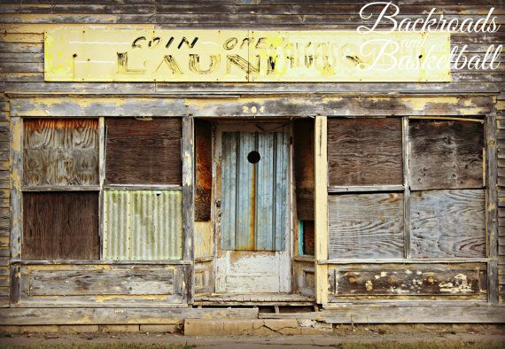 Vintage Coin Operated Laundry in Kansas fine art home decor wall art by A2Z Photography on Backroadsandbball, $20.00 Perfect for Laundry room decor #Laundry #kansas #abandoned #Decor #vintage
