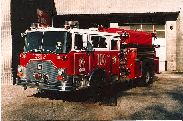 https://flic.kr/p/6DTQDW | 1995 Yonkers Engine 308 Mack CF | 1995 Yonkers Fire Dept NY Engine 308 Mack CF Pumper. FDNY Photo by  Tony Greco