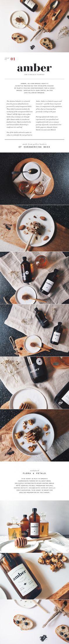 Amber design & branding packaging. /
