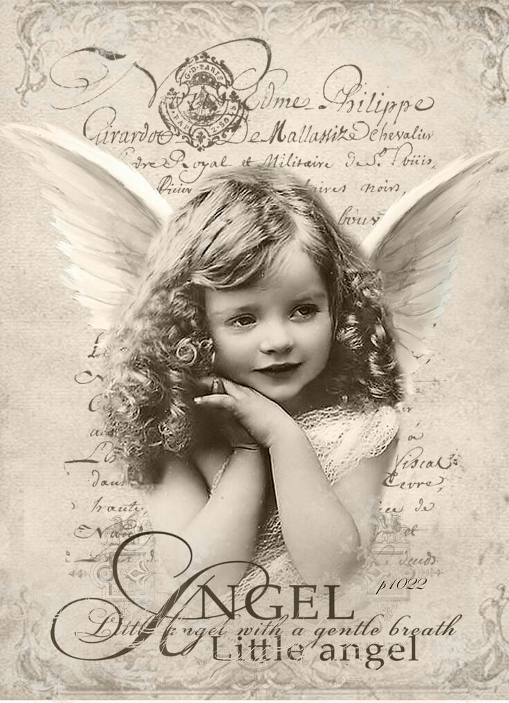 Годовщину, картинки ретро ангелы