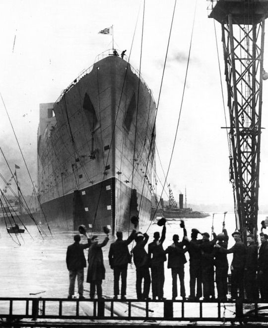 People in Belfast bidding Farewell to the Ship they just built • The Titanic 1912