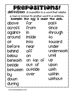 36 best Prepositions images on Pinterest | Language activities ...