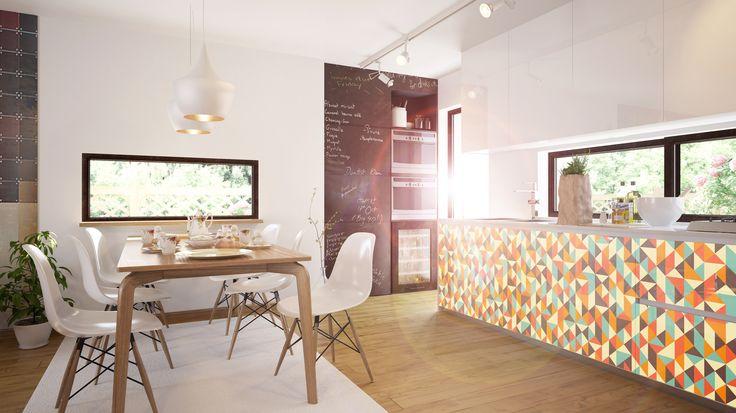 Schuhschrank Ikea Bissa Birke ~ Design  Hallucinogen  in der Küche mit #Küchenfolien von creatisto