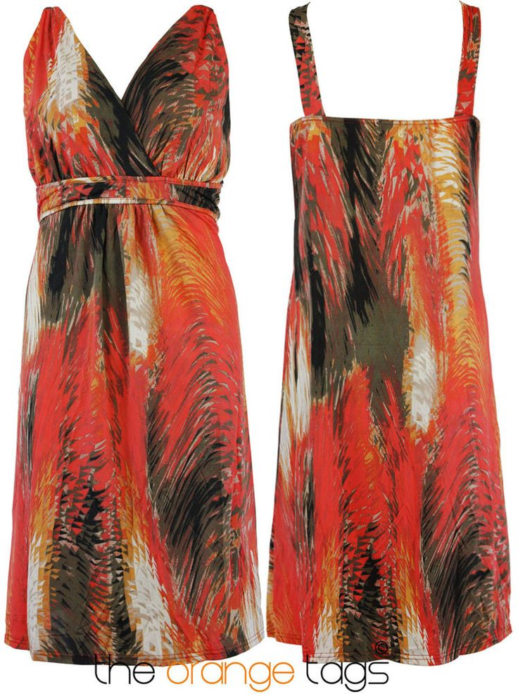 WOMENS #SUMMER #TROPICAL #PRINT #LADIES #SLEEVELESS EVENING #DRESS #PLUS #SIZE 16-28