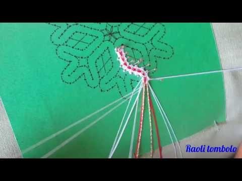 Merletto a Tombolo - Progetto Snowflake: 1a parte - YouTube