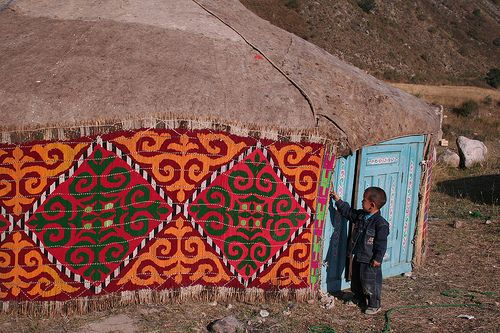 yurt with decorative exterior