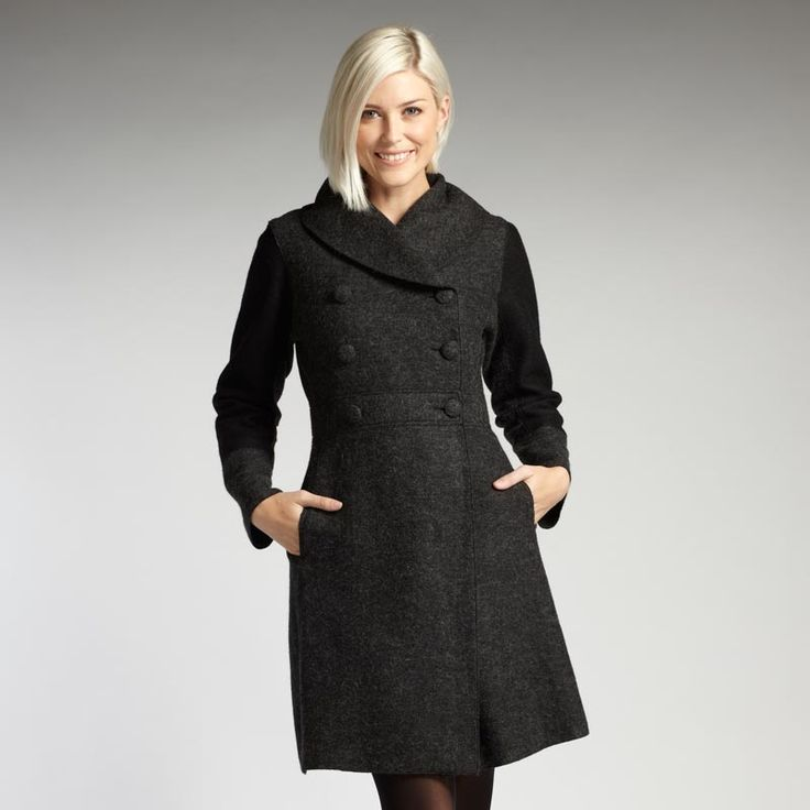 Womens fair trade alpaca and boiled wool coat. Ethical fashion from INDIGENOUS.