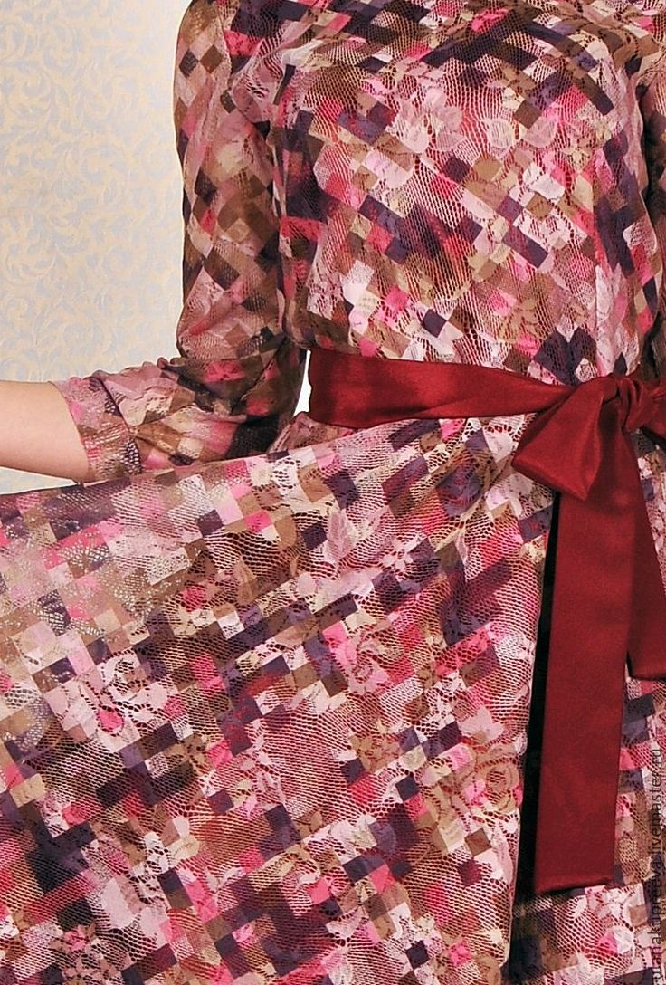 Купить Скидка - 50%Платье с поясом (бордо) - платье, купить платье, купить платье в москве
