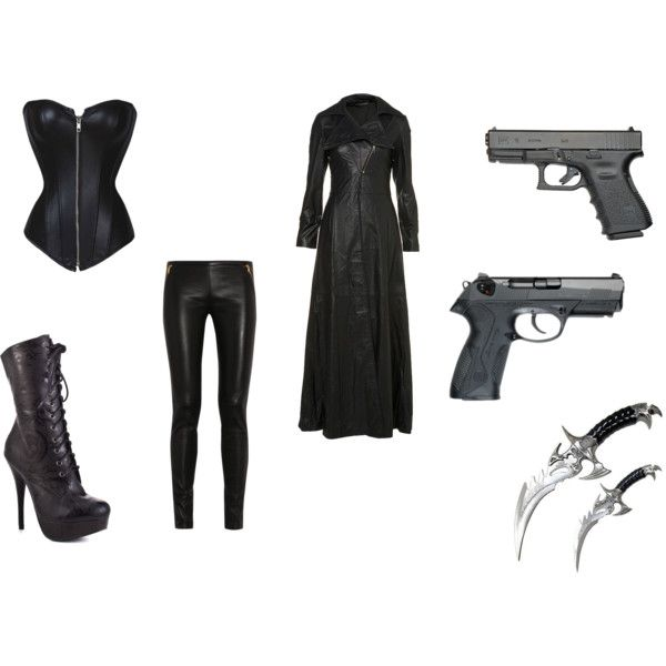 selene from underworld inspired by punk-jay on Polyvore featuring polyvore, fashion, style, Emilio Pucci, Iron Fist, Ace and clothing
