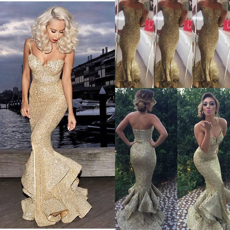 2016 Vintage Long Gold Evening Dresses Sequined Mermaid Prom Gowns Floor Length Backless Formal Celebrity Dresses Zuhair Murad Dresses 2015 Online with $91.63/Piece on Cc_bridal's Store | DHgate.com
