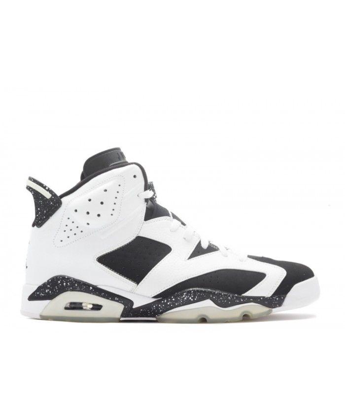 Air Jordan 6 Retro Oreo White Black 384664 101  7ec752aa5b
