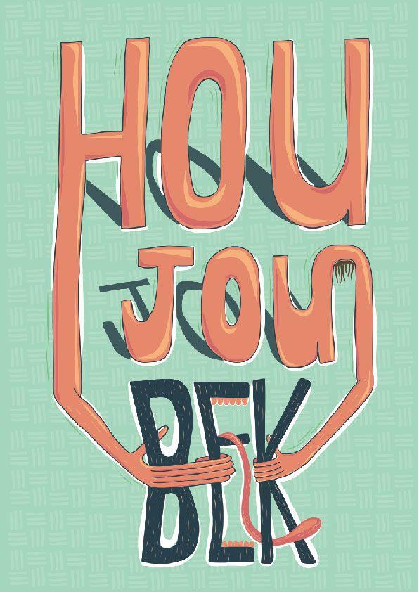 Illustrated Type: Hou Jou Bek on Behance