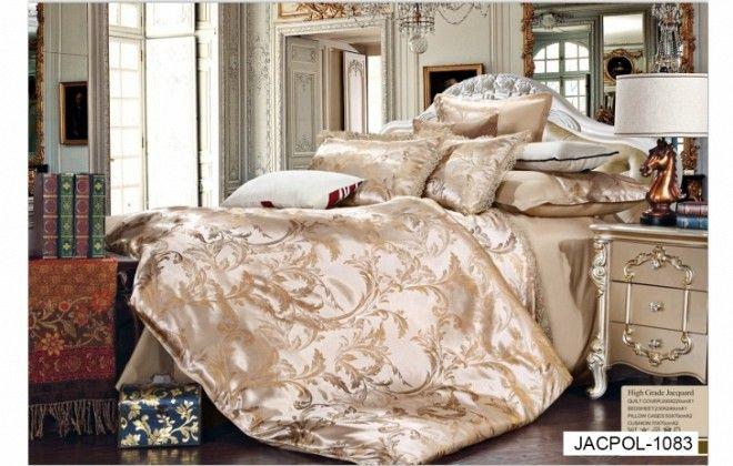 Lenjeriile Poli Jacquard Milano Collection pentru pat dublu, din bumbac 50% + poliester 50%, brodate, placute la atingere, la doar 150 lei in loc de 300 lei! Nu rata oferta!  Intretinere: &#8…