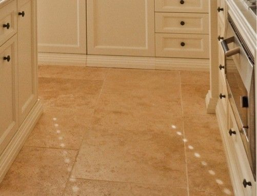 Travertine tiles complete the French kitchen - French provincial style in Sydney, Australia