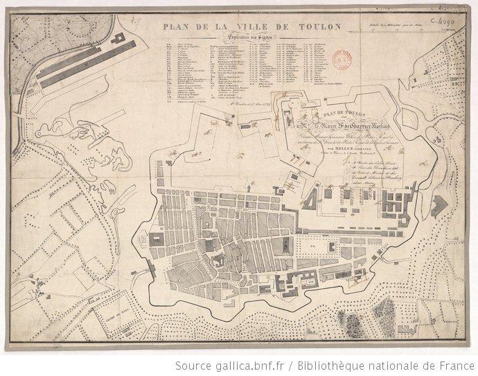 Plan de la ville de Toulon. 17 mai 1828 - 1