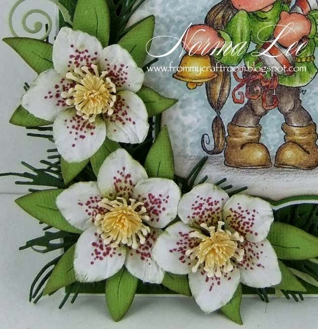 From My Craft Room: Hellebores/Christmas Rose (Paper) Tutorial