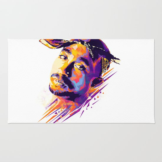 2pac: Dead Rappers Serie Area & Throw Rug