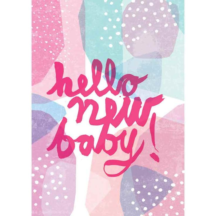 Hello New Baby – Pink  Card