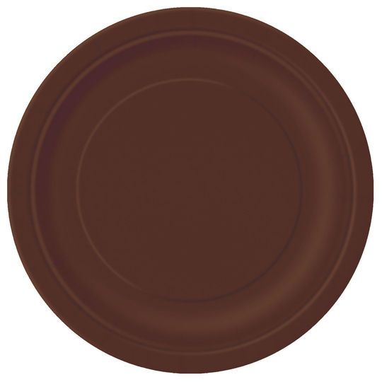 "9"" Brown Dinner Plates, 8ct"