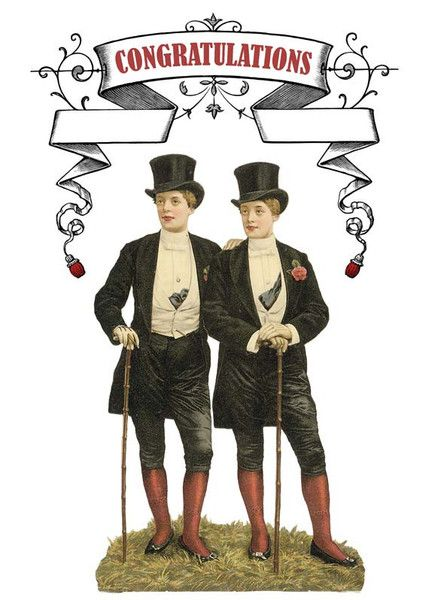 The Frantic Meerkat — Gay Wedding or Anniversary Card