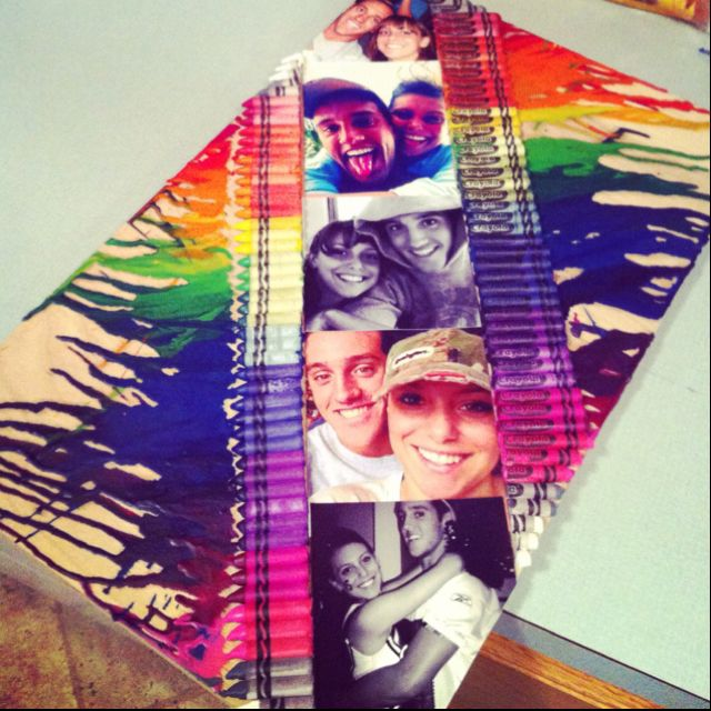 I wanna try this ;): Melted Crayons Art, Gift, Black And White, Cute Ideas, Pictures, Cool Ideas, Photo, Crafts, Crayon Art
