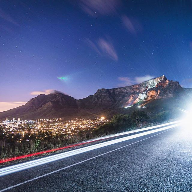 """""""Watch out, Incoming !  Have an incredible week friends.  Remember that time TableMountain was all these cool colors? """"  featuring @instacptguy _______________________________ If you'd like to see your images being featured here just use #capetownmag - We really enjoy sharing your shots of all the different aspects of the Mother City and the rest of the Western Cape."""