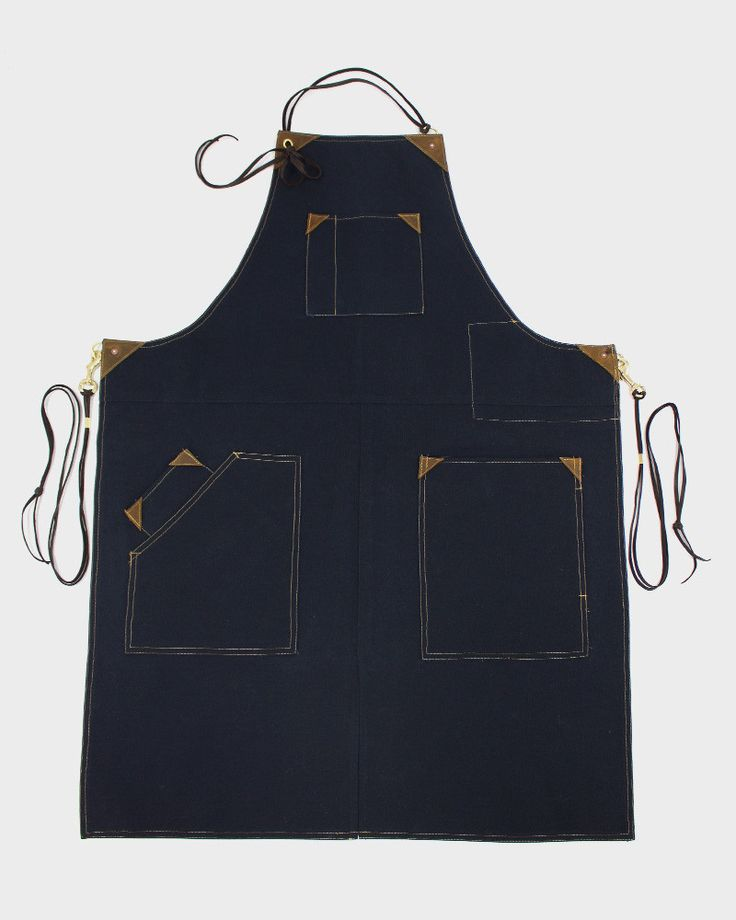 Canvas Work Apron, Navy