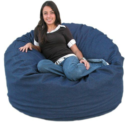 Best Price On Cozy Sack 4 Feet Bean Bag Chair, Large, Denim See