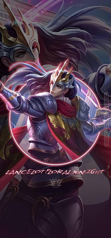 Lancelot Floral Knight Mobile Legends Wallpaper By Efforfake On Deviantart Mobile Legend Wallpaper Mobile Legends Anime Mobile