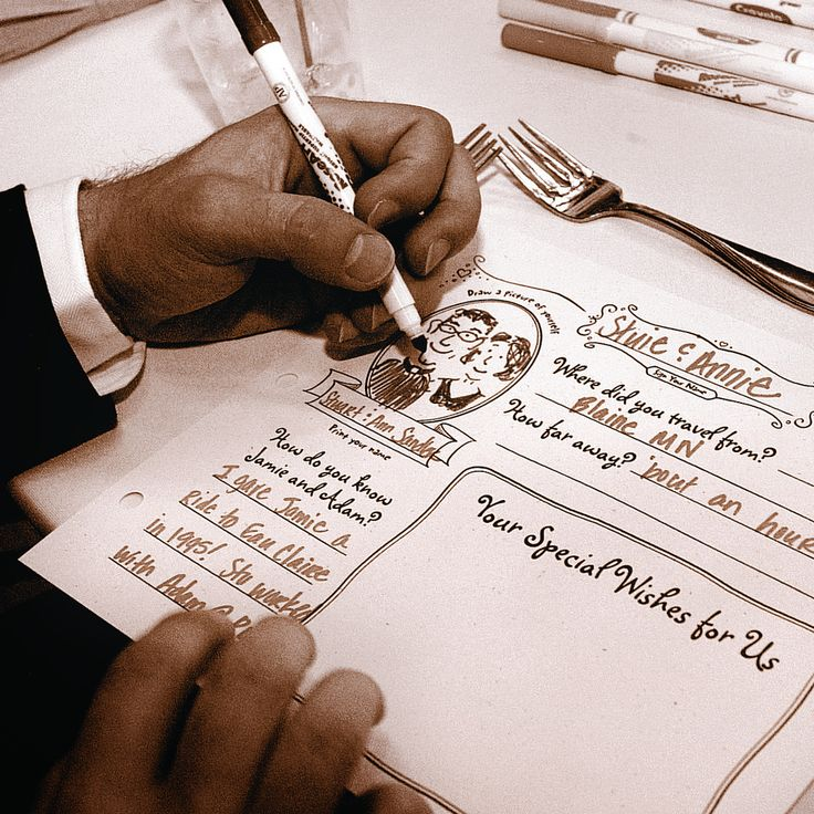 Design a page for each guest to fill in at the reception, then bind into one keepsake book.