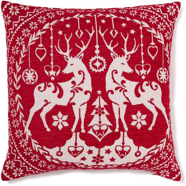 Chenille Stag Cushion M S 12 Liked On Polyvore