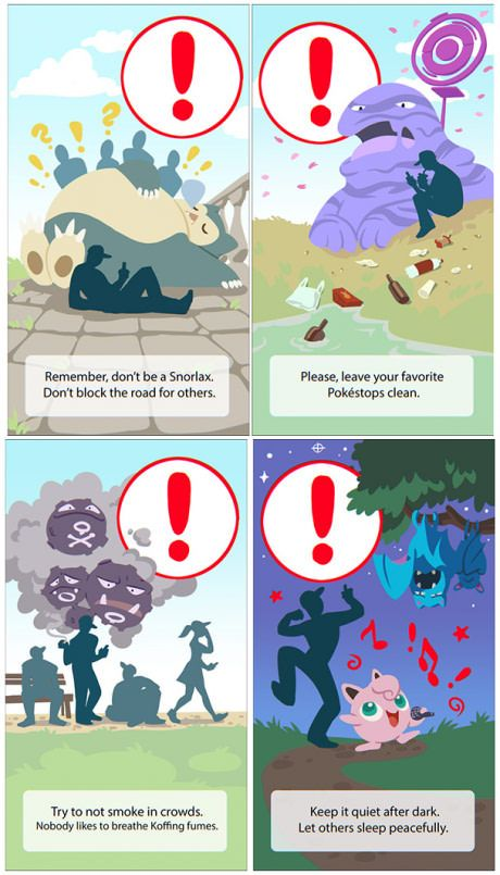 Warnings for Pokemon GO trainers