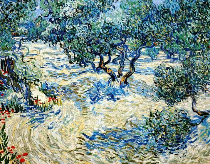 Vincent Van Gogh - Post Impressionism / Saint REMY / Champs d'oliviers.
