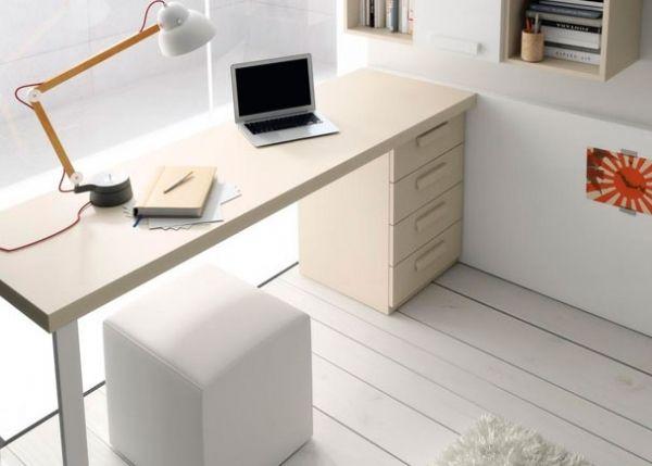 Mesa de estudio con cajonera escritorios juveniles pinterest mesas - Mesas estudio juveniles ...