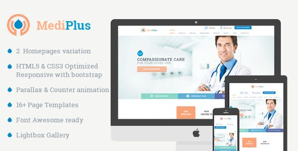 Medical Care - Responsive Template for Hospital and Clinic . Medical Care is a responsive HTML Template for  hospital, clinic, doctor and other related organizations. It has nice, clean, simple design with tons great premium features such as: booking form, responsive layout, Jquery Slider, Shop pages, Lightweight loading and much