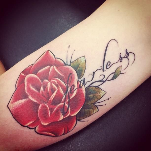 Tattoo Quotes With Roses: Best 25+ Fearless Tattoos Ideas On Pinterest