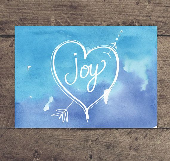 Printable Christmas Print JOY 5 x 7 print. Instant by louandboo