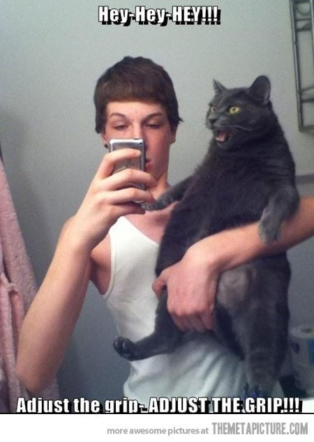 I just really want to know why this GUY is taking a picture with his cat. #ForeverAlone: Cats, Picture, Cat Face, Animals, Funny Stuff, Humor, Funnies
