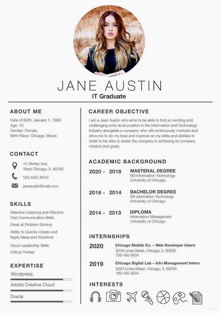 Free Basic Fresher Resume CV Template in (PSD