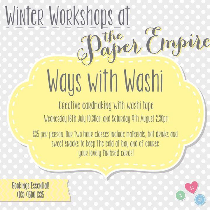 Washi workshop #washitape #craft #melbourne