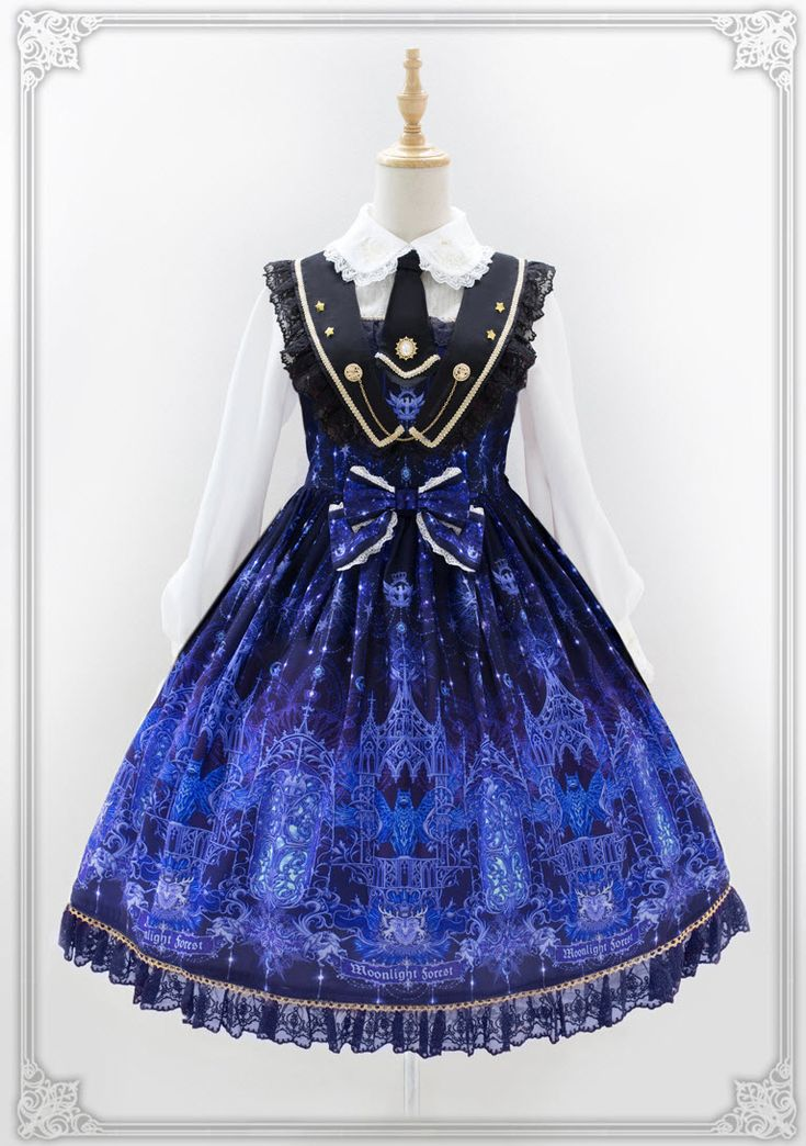 Moonlight Forest -Griffin's Whisper- Lolita Collar Jumper Dress