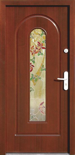 Drewniane wejściowe drzwi zewnętrzne do domu z katalogu modeli klasycznych wzór 571s2+ds1