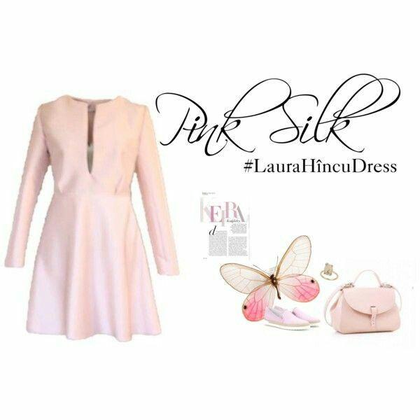Pink silk #LauraHîncuDress