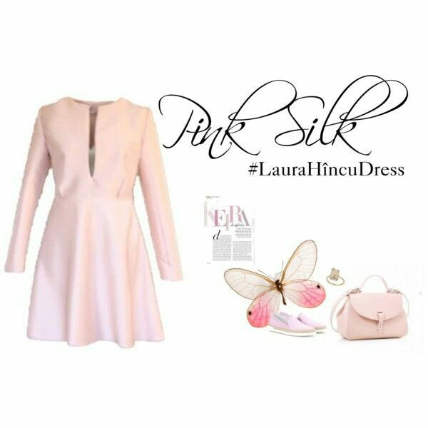 Pink silk #LauraHîncuDress